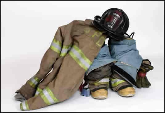 volunteer firefighter brochure flyer turn out gear