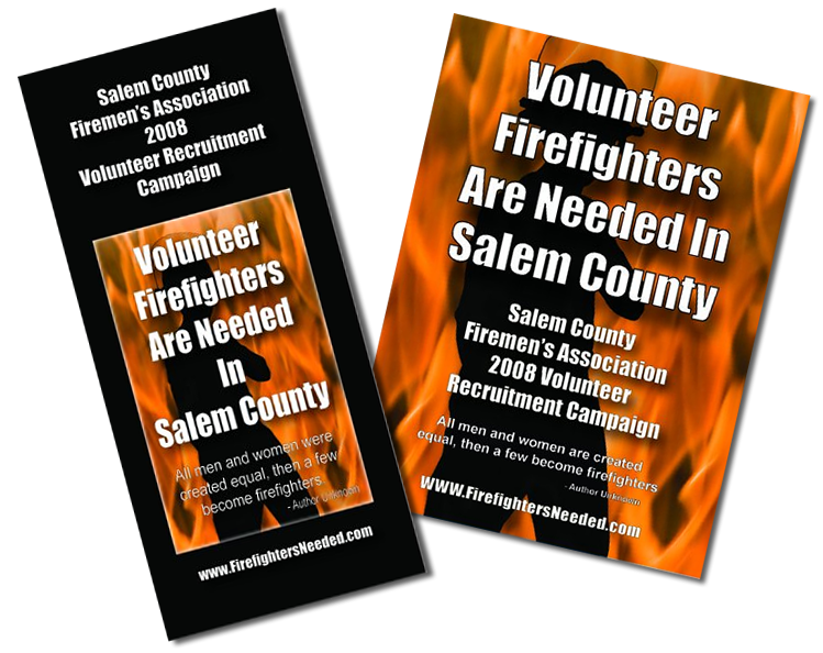 volunteer firefighter brochure salem county firefighters needed